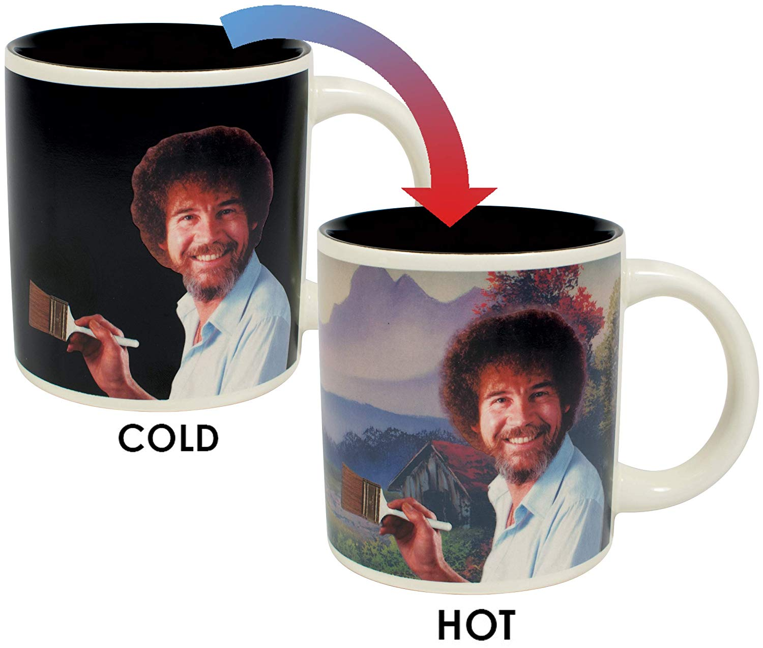 The unemployed philosopher's guide, Bob Ross heat changing mug