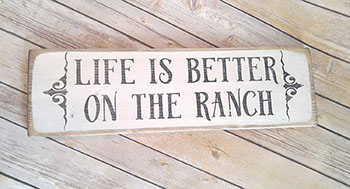 Zora Camp Life is better on the ranch sign wall decor - rancher Gifts