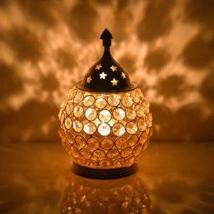 Collectible India's Akhand Diya Decorative Crystal Lantern