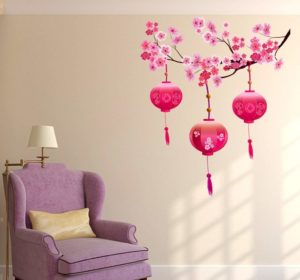Decals Design's 'Chinese Lamps Lantern Wall Sticker
