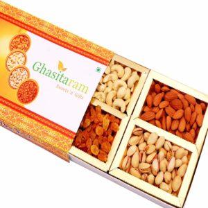 Ghasitaram Gifts' Diwali - Orange Dryfruit Box 200 gms