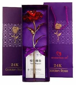 International Gift's Red Rose 25 cm Gift Box and Carry Bag