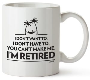 Retirement mug-retirement gifts for men