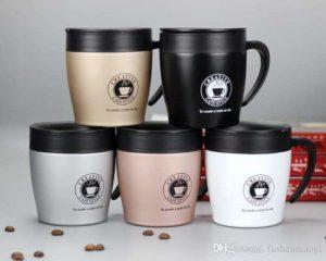 Stainless Steel Coffee Mug with Lids