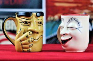 Weird Wolf Johnny and Jasmine Coffee Mugs, Set of 2