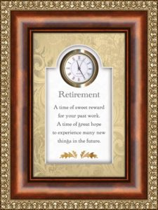 table clock-retirement gifts for men