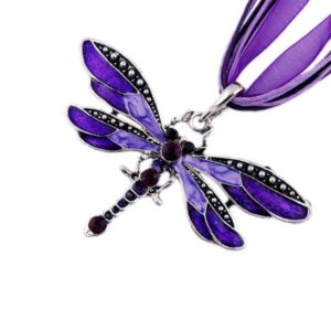 Colorful Enamel Dragonfly Pendant Necklace - Dragonfly gift ideas