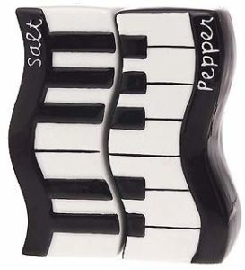 Gift House's Music Wavy Keyboard Salt and Pepper Shakers
