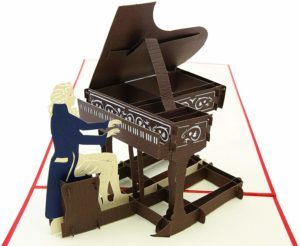 Piano Pop-up Card - Piano teacher gifts