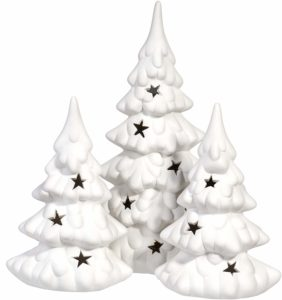 White Decorative Christmas Trees - minimalist Christmas gifts
