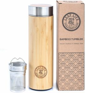 Bamboo Tumbler with Tea Infuser - retirement gift ideas for principals